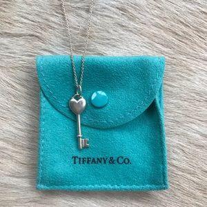 Tiffany & Co. Heart & Key Necklace with Diamond